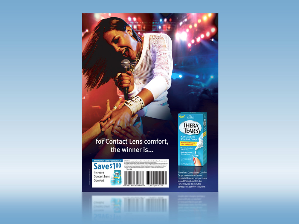 Consumer Advertisement in American Idol Magazine